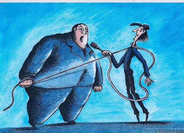 21th International Cartoon Contest, Haifa 2015 / Israel - Special Prize: Vladimir Kazanevsky / Ukraine