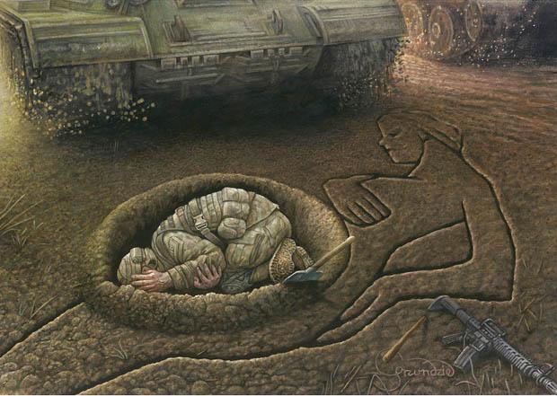 rys. Krzysztof Grzondziel - praca z wystawy 32. Aydın Doğan International Cartoon Contest