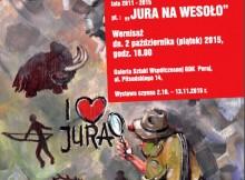 Plakat wystawy z rysunkiem Sławomira Łuczyńskiego