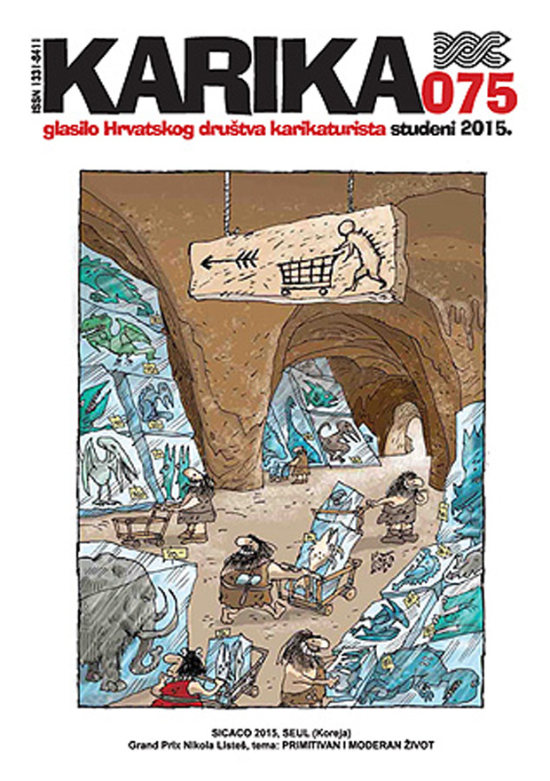 "Okładka ""Karika"" 75 - 24th Sejong International Cartoon Contest SICACO 2015 – Grand Prize: Nicola Listes / Croatia"