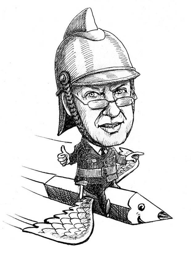 rys. Jacek Frankowski - autokarykatura
