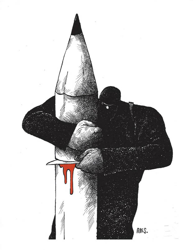 THE UNITED NATIONS/RANAN LURIE POLITICAL CARTOON AWARDS: First Prize: Aristides Hernandez Guerrero / Cuba