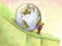 rys. Milenko Kosanovic / Serbia - 10th International Environmental Cartoon Illustration Contest 2015, China