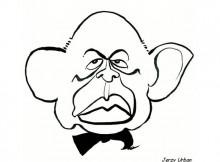 Rys. Sławomir Arabski - karykatura Jerzego Urbana