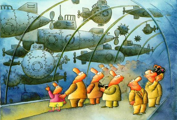 7th International Tourism Cartoon Competition - The Grand Award: Olena Tsuranova, Ukraine