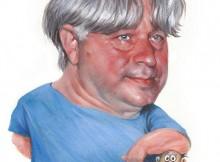 Sławomir Łuczyński w karykaturze Grzegorza Szumowskiego