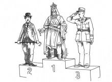 """Rys. Pavel Matuška """"Trzej Karolowie"""""""