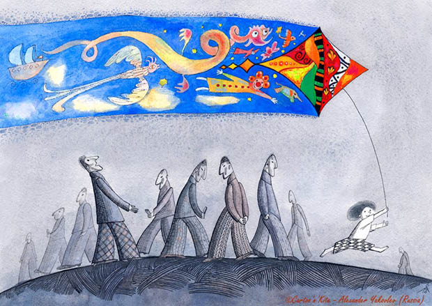 """""""Cartoo'n'Kite"""" International Competition of Satirical Design / Italy - Alexander Yakovlev (Russia) - First prize"""