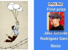 """""""Freedom of Expression"""" International Cartoon Contest 2017 - First prize: José Antonio Rodríguez García, Mexico"""