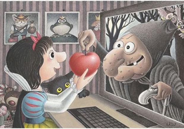 Rys. Izabela Kowalska-Wieczorek /  4th International Cartoon Copetition Dijital Media