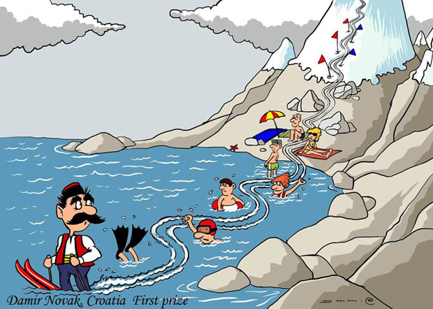3-rd International Cartoon Contest – Kolašin, Montenegro 2018: First Prize: Damir Novak / Croatia