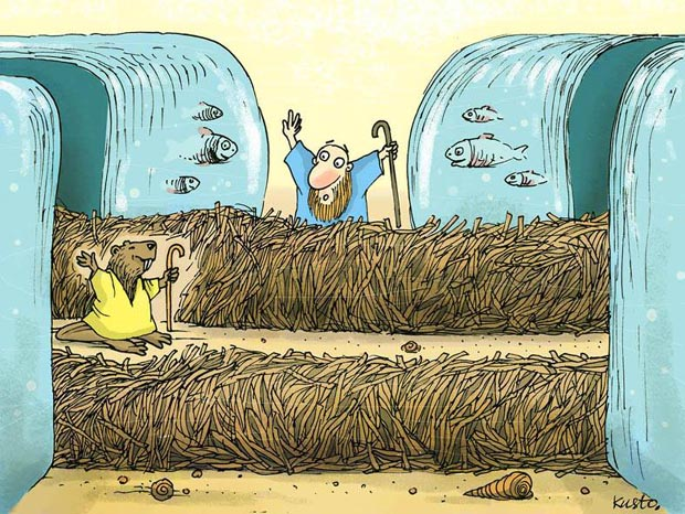 "2nd ""BEAVERS LAUGH"" Bobritsa Cartoon Competition - Beaver Prize: Aleksiej Kustovskij / Ukraine"