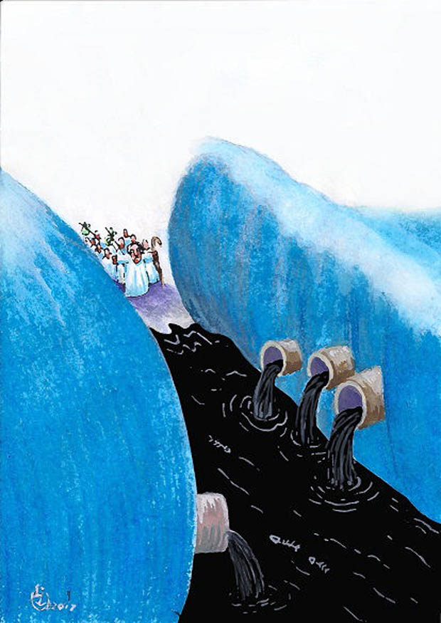 "International Caricature Festival ""El Agua Tiene Memoria"" / Colombia  - Prize: SEYRAN CAFERLI - AZERBIJAN"