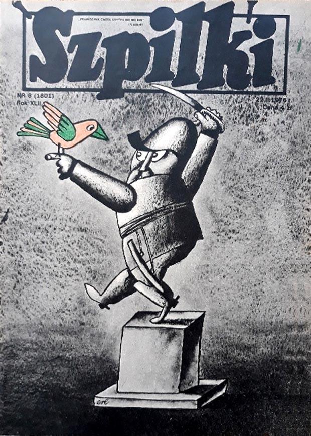 Rys. Eryk Lipiński - Szpilki nr 8 (1801) z 22.II.1976 r.