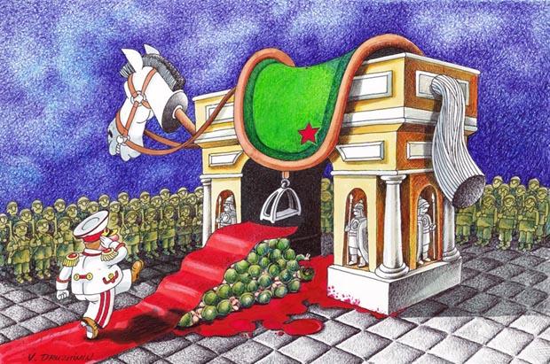 Lomba dan Pameran Kartun Internasional BCF3 - Prize: Valentin Druzhinin / Russia