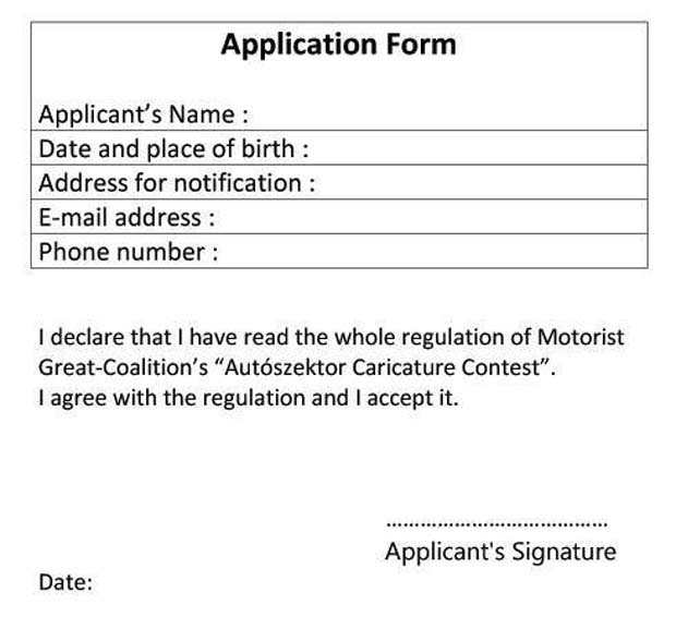 Applicstion form-auto
