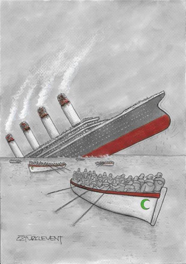 4. International Green Crescent Cartoon Contest - Mazhar Osman Prize: Ahmet Öztürk Levent - Turkey