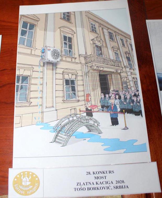 "28. International Festival of humor and satire ""Golden Helmet"" Kruševac 2020 / 1st prize: Tošo Borković, Serbia"